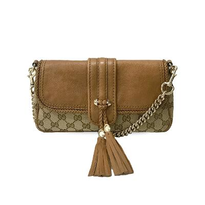 monogram tassel chain bag